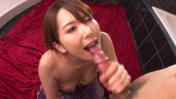 Charming Yui Hatano in handjob porn video
