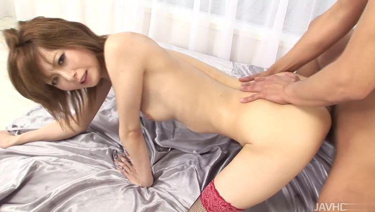 Comely Rika Sakurai got an anal drilling