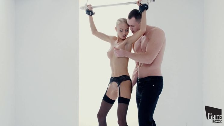 Submissive Ukrainian blonde Nancy A gets tied up and fucked deep