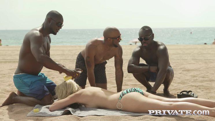 MILF Julia Pink Stars in Her First Interracial Gangbang