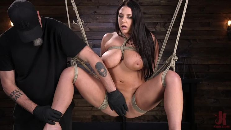 Angela White's First Time in Brutal Bondage and Tormented