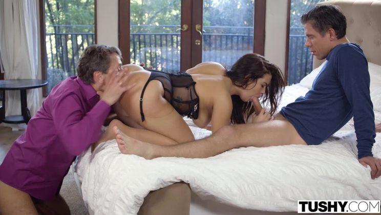 Hot Wife Enjoys Threesome Fantasy