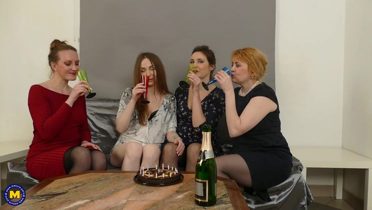 These naughty housewives sure know how to party