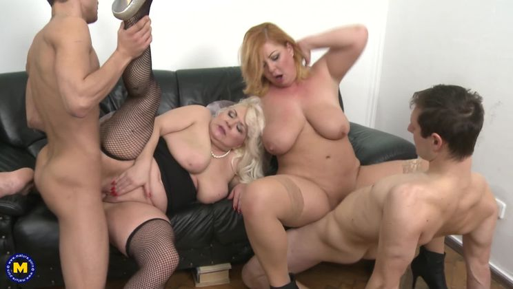 Keep your eyes open for this hot mature groupsession, where everybody plays with everybody!