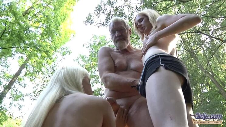 Threesome With an Old Woodcutter
