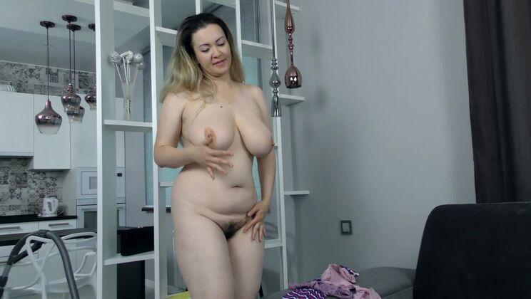 Marsela masturbates with her purple vibrator