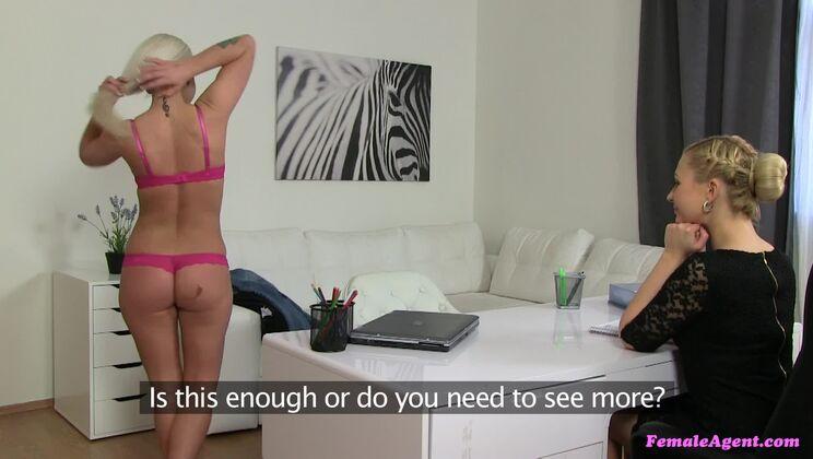 Busty babe fulfills lesbian fantasy