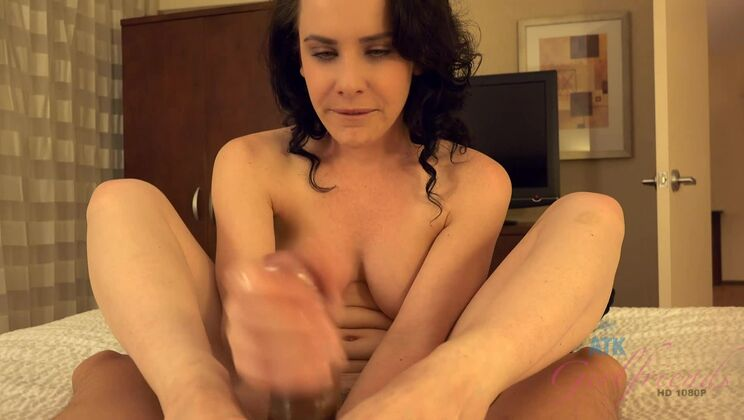 Katie comes over for a visit and leaves with cum on her feet