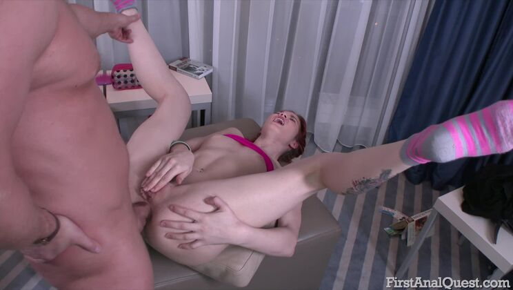 Anal Sex for the First Time with Redhead Alice Taylor