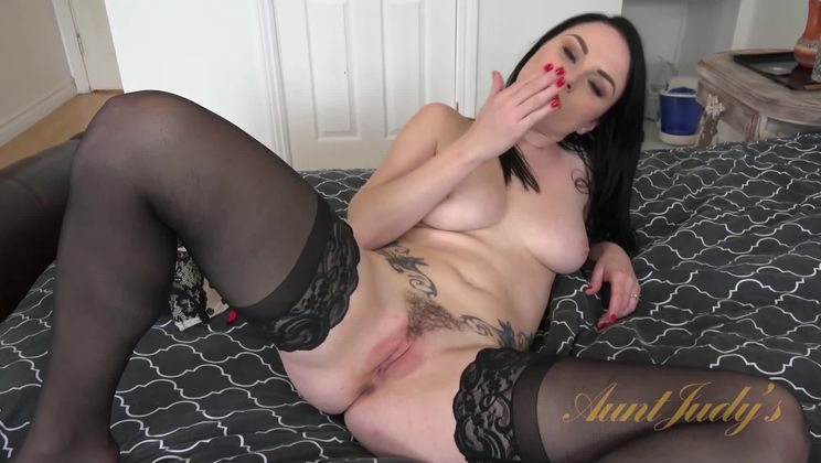 Veruca James Uses a Dildo While She Begs For Your Cock