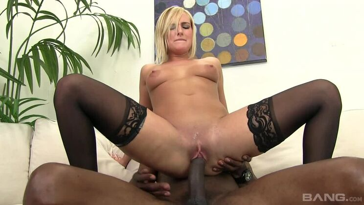 Kate England has her pussy stretched out by a massive black cock