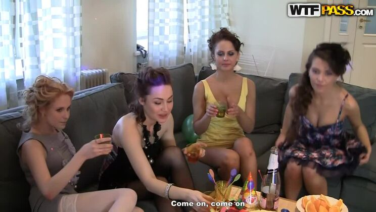 Bridal shower with hot college sluts, part 3