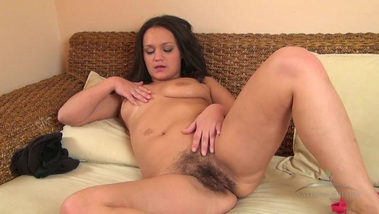 Mila masturbates for climax