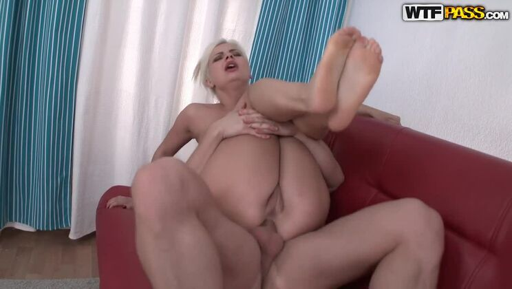 Sexy Blonde Plays With Her Sex Toys