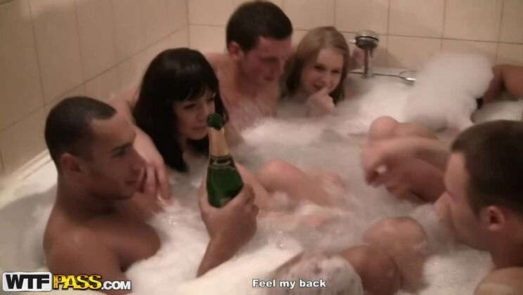 Hot wild girls fuck on a corporate party, part 4