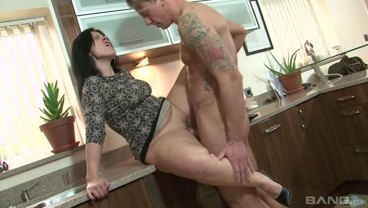 Montse Swinger Gets Used in her Kitchen