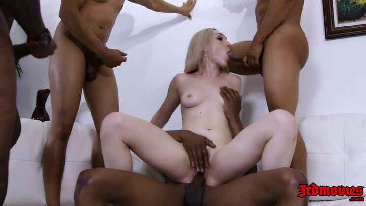 Lily LaBeau Getting Gangbanged By Multiple Cocks