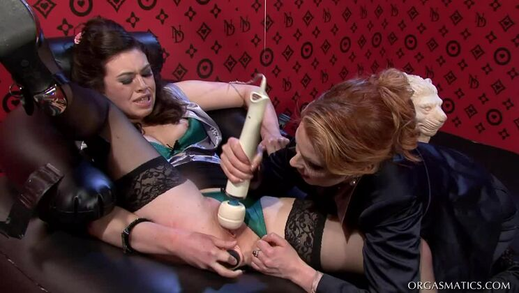 Bound And Lesbo Banged Frenchie