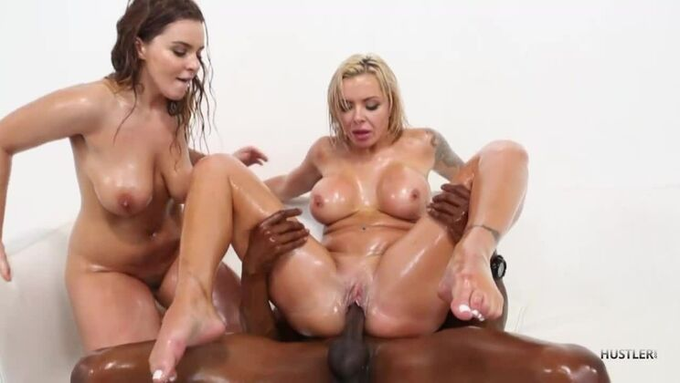 Interracial Busty MILF 3Ways