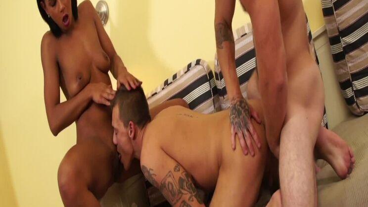 Horny boys invited the girl home