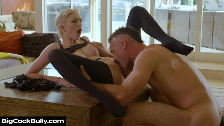 Skye Blue takes a trip to her fiancé's ex-bosses house