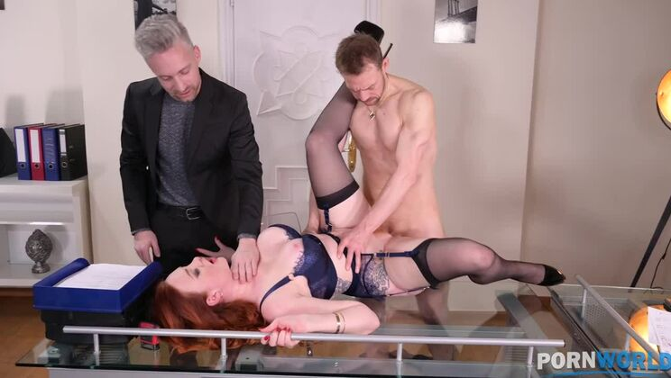Threesome therapy with orgasmic anal action for busty redhead Zara DuRose GP1415