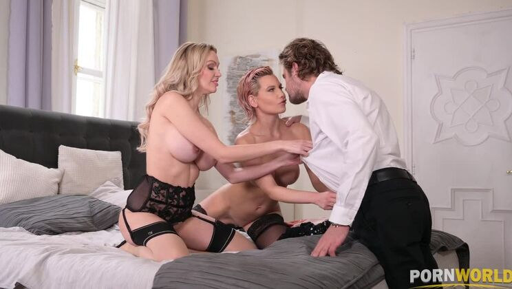 Amber Jayne & Subil Arch's pussies destroyed in thrilling threesome action GP1408