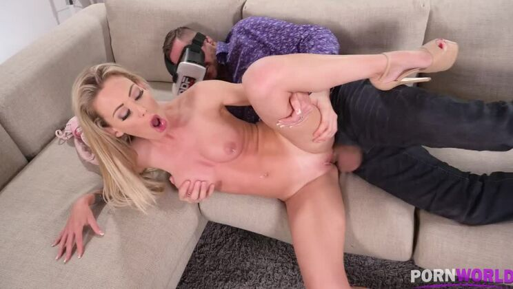 Isabelle Deltore masturbates in the shower and pussy fucked until facial GP1438