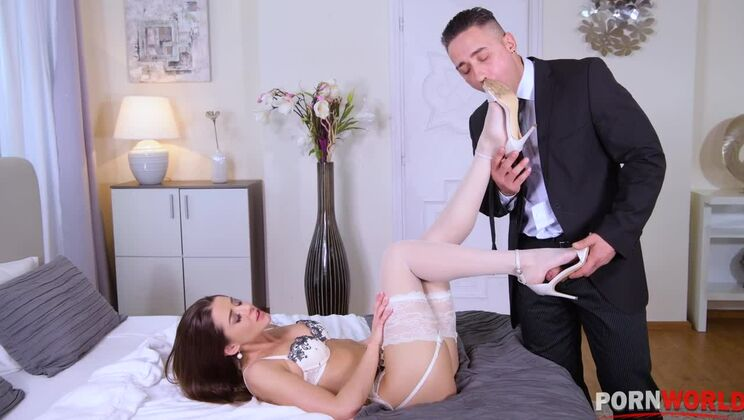 Sybil sizzles in leg fetish scene getting pounded in thigh high stockings GP1333