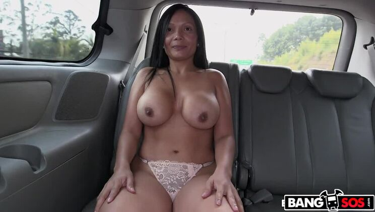 The BangBus in Colombia Fucking A Big Booty Latina Milf!