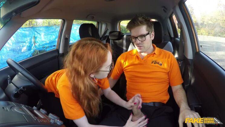 Nerdy Ginger Seduces Instructor
