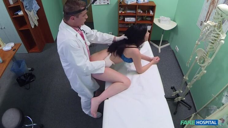 Doctor prescribes his cock to help relieve sexy patients back pain